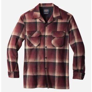 Pendleton wool board shirt in maroon ombré
